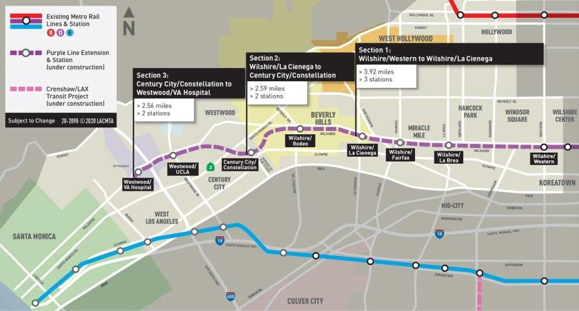 Purple Line Extension Map