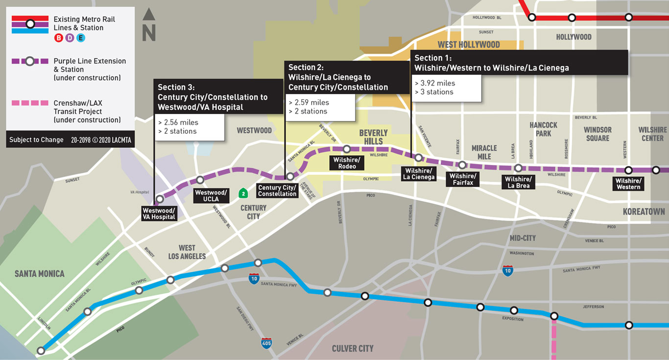 hight resolution of purple line extension map