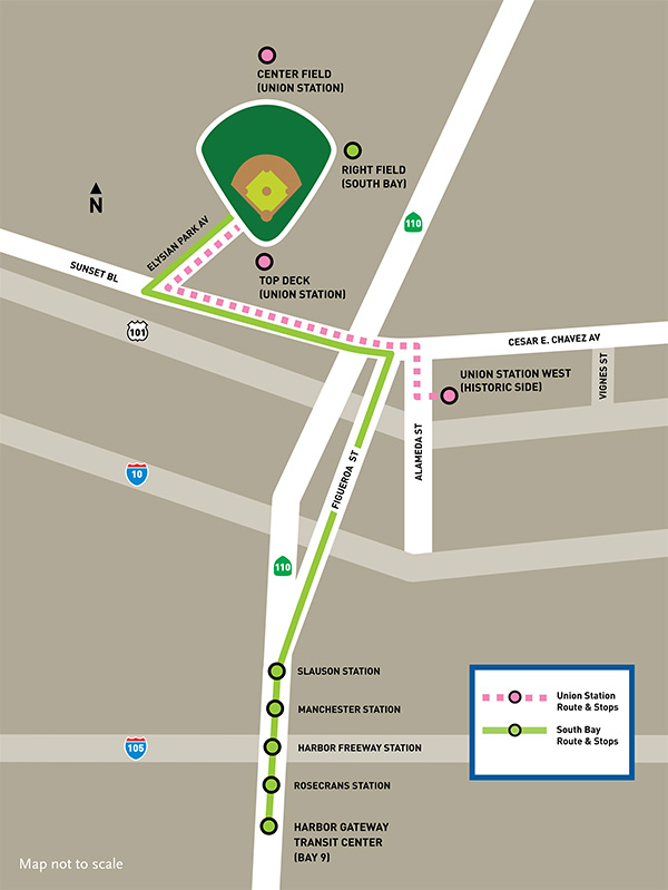 Dodgers Stadium Parking Lot Map : dodgers, stadium, parking, Dodger, Stadium, Express