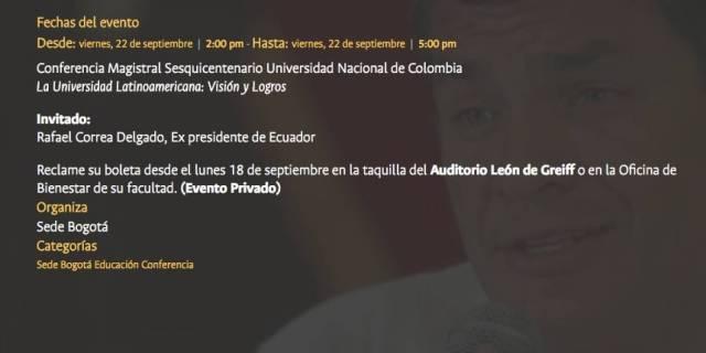 Conferencia Rafael Correa