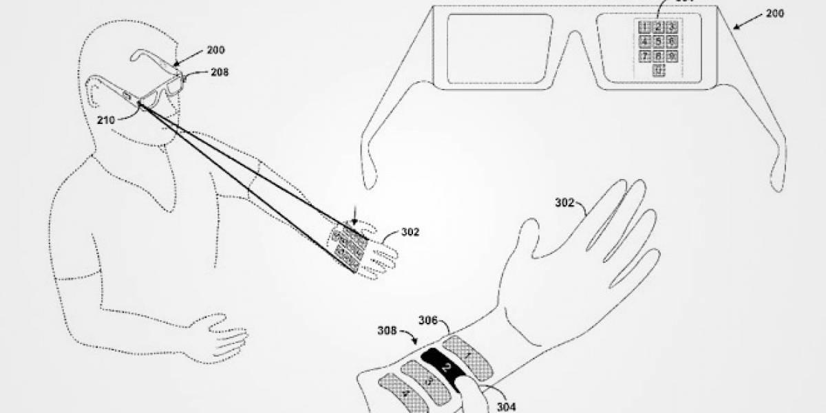 Google presenta patente para controlar Project Glass con