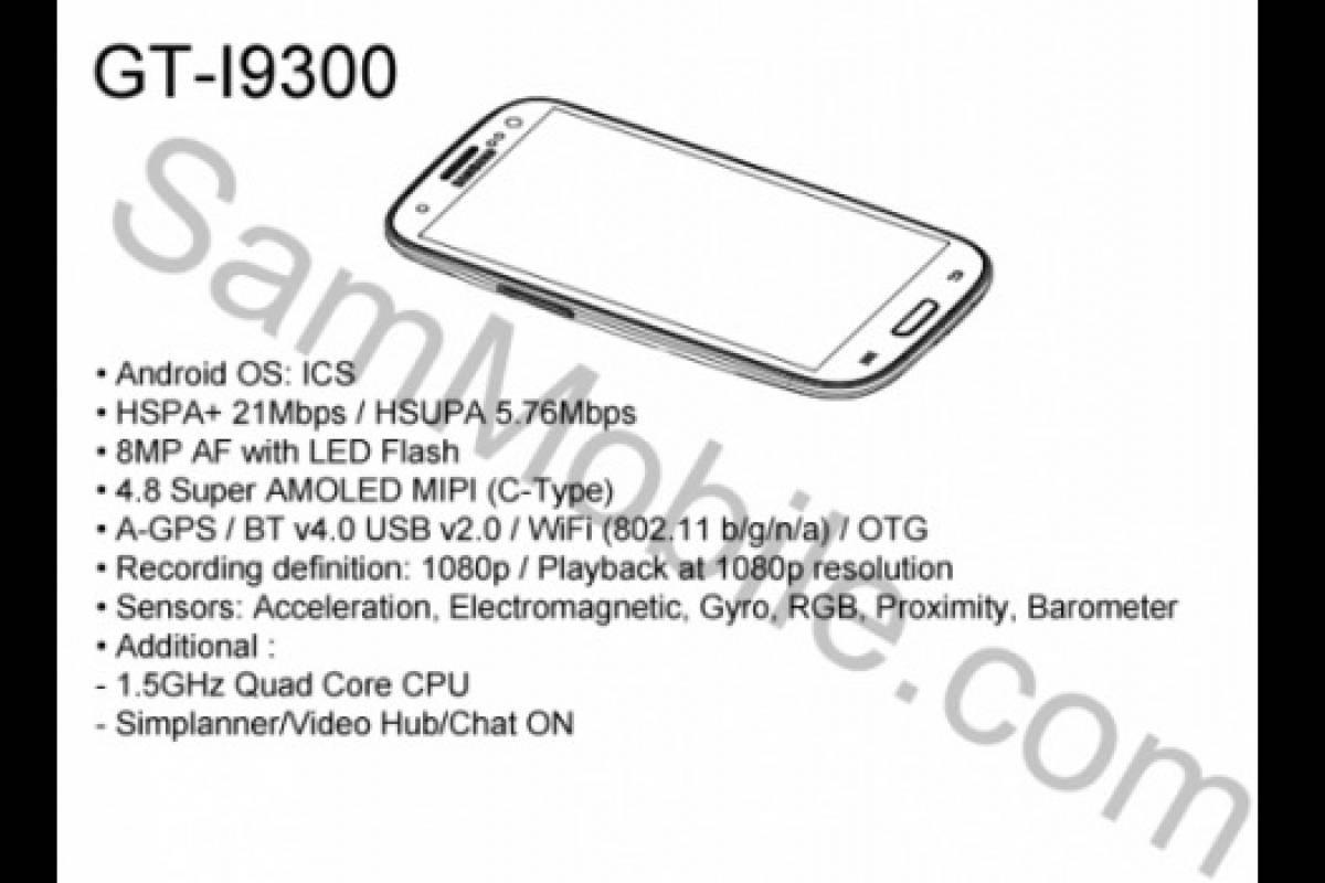 """Se filtran """"supuestas"""" especificaciones del Samsung Galaxy S3"""