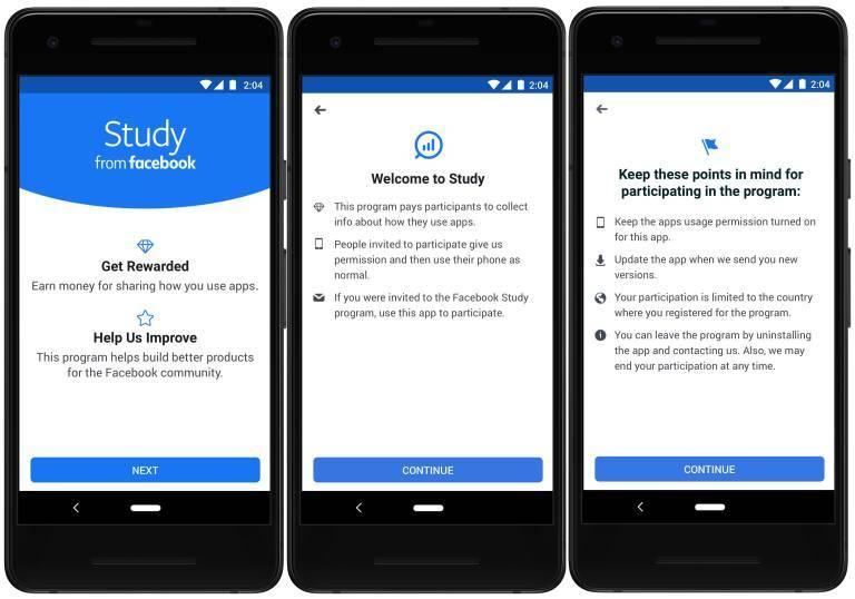 Facebook estrena aplicación que paga a los usuarios por sus datos