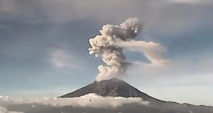 Popocatépetl: Se registran 16 explosiones en tan solo 24 horas