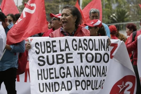 Resultado de imagen para Fotos de protestas en Ecuador