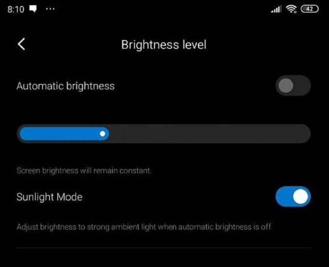Xioami activa función para aumentar la visión de la pantalla del terminal en pleno sol