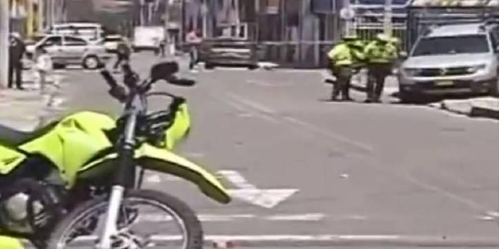 ¡De película! Una persecución en Bogotá terminó en balacera