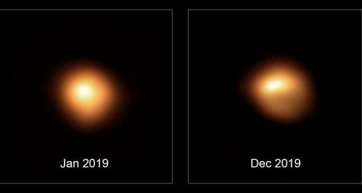 Betelgeuse se encuentra en su punto de brillo más bajo en 25 años
