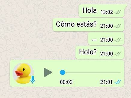 WhatsApp palomitas