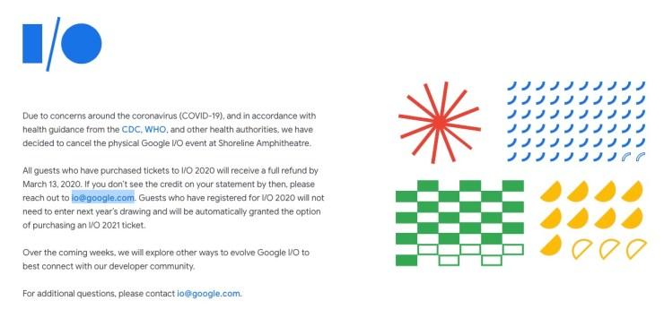 Coronavirus Google I/O 2020