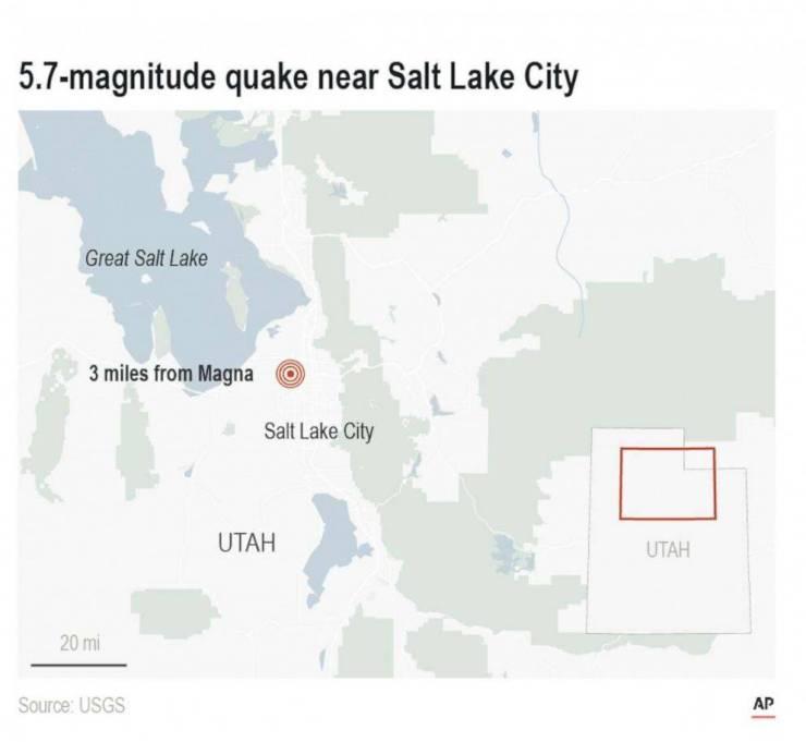 Terremoto afecta hace pocos minutos a Estados Unidos