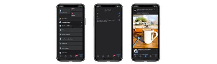 Facebook: así luciría el tan retrasado modo oscuro de la app para iOS