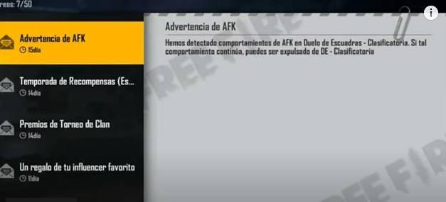 Advertencia AFK