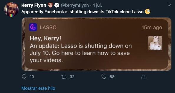 TikTok Lasso Facebook