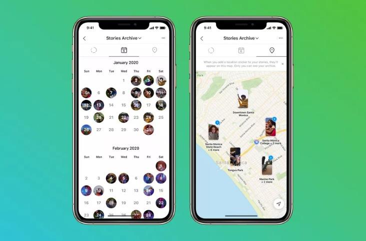 Mapa de historias de Instagram