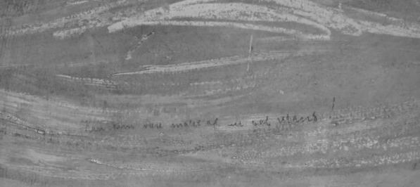 Escrito encontrado en el cuadro El Grito, de Edvard Munch.