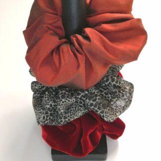 Scrunchies i 3-pack, Röd