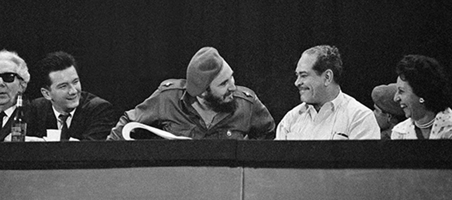 Fidel Castro is shown with Blas Roca, his reported choice to head the Cuban Communist Party, on Dec. 18, 1961. // AP file photo