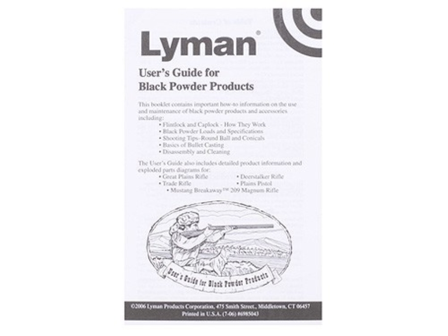 Black Powder Users Guide Book by Lyman
