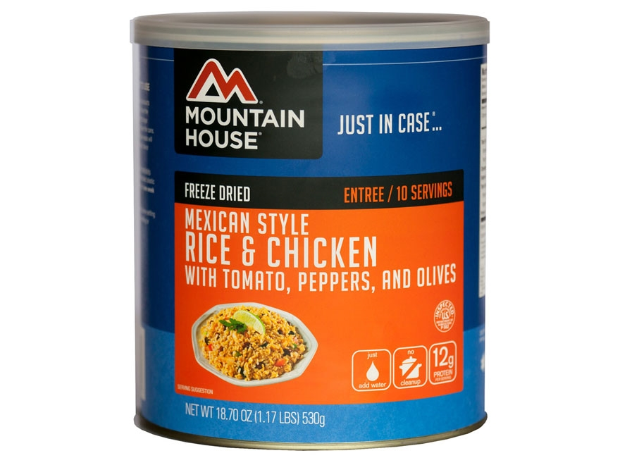 Mountain House 10 Serving Mexican Rice Chicken Freeze