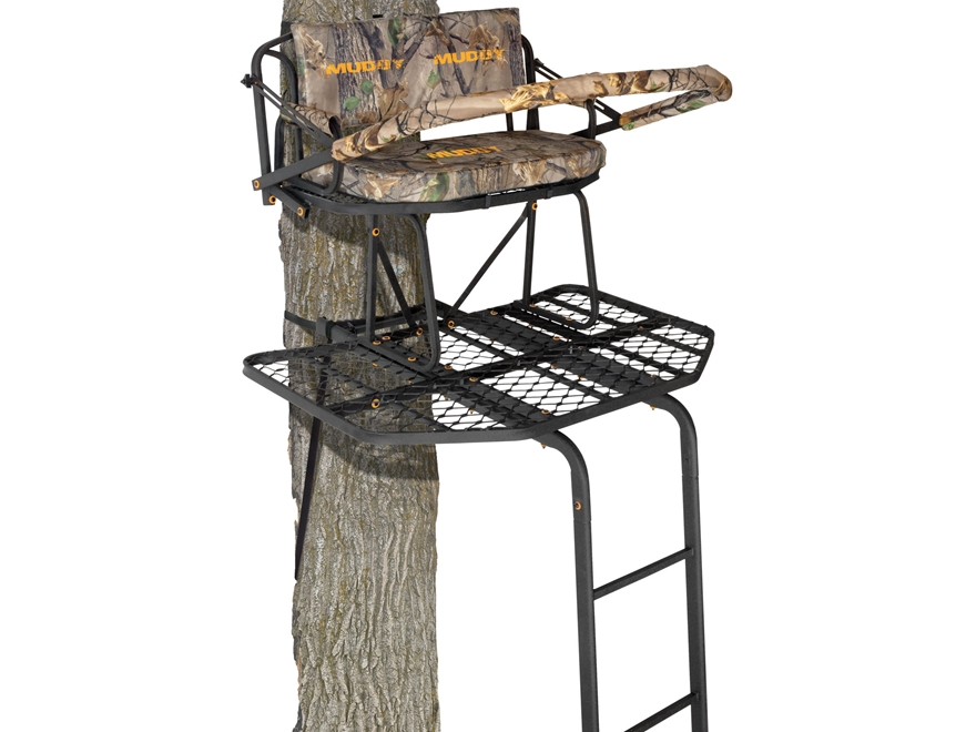 low cost chair covers child size bean bag chairs muddy outdoors the prestige 16' double ladder treestand - mpn: 1004609
