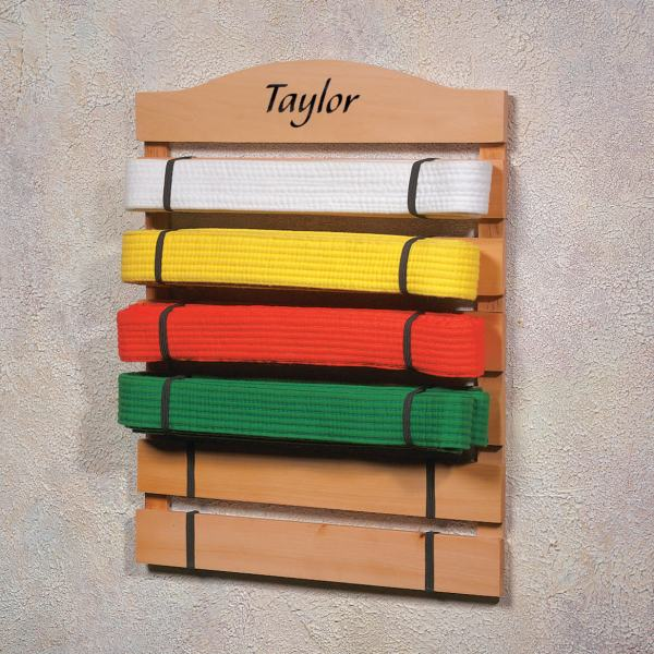 Personalized Karate Belt Rack - Display