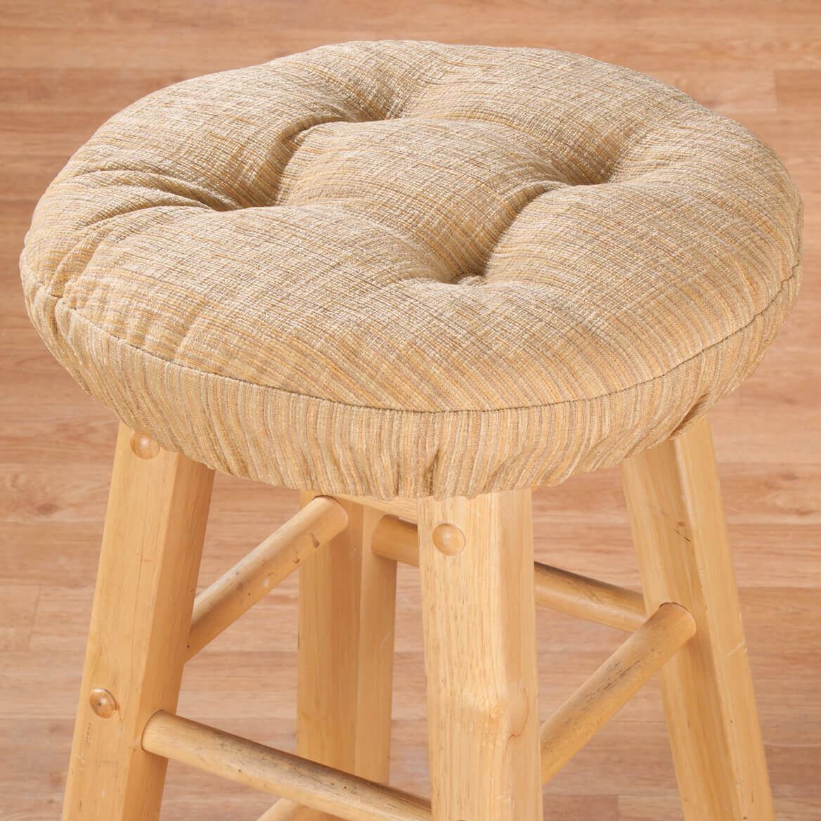 elastic kitchen chair covers chairs for toddlers to sit at the table chenille round bar stool cushion - miles kimball