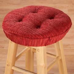 Kitchen Chair Pads Target Rocking Crib Chenille Round Bar Stool Cushion