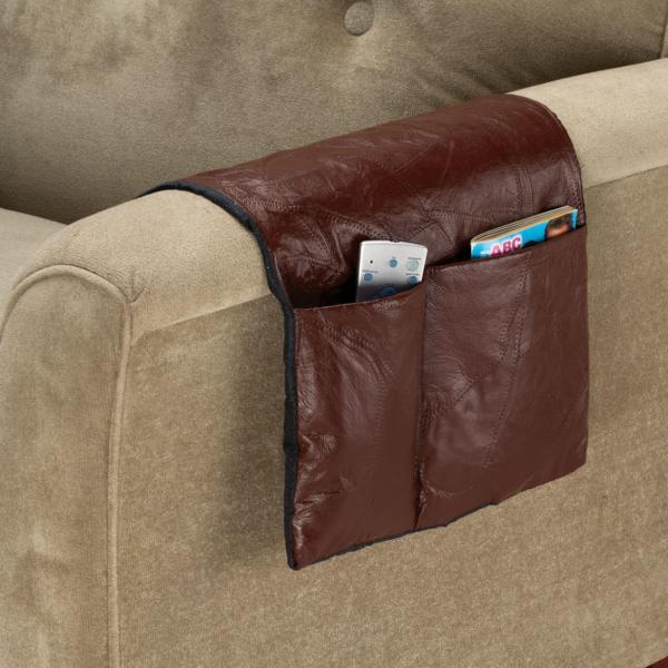 Leather Armchair Caddy - Organizer Miles Kimball