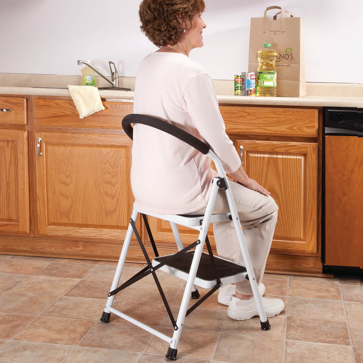 chair stool combo toddler lounge with straps step ladder