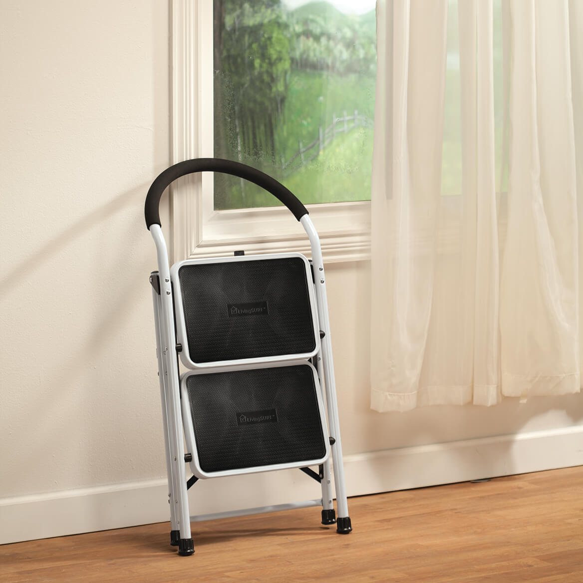 chair stool combo free folding chairs step ladder