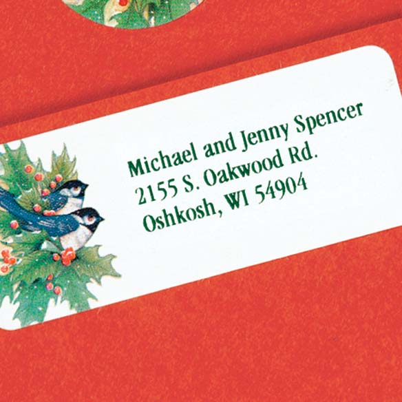 Winter Chickadee Address Labels And Seals Miles Kimball