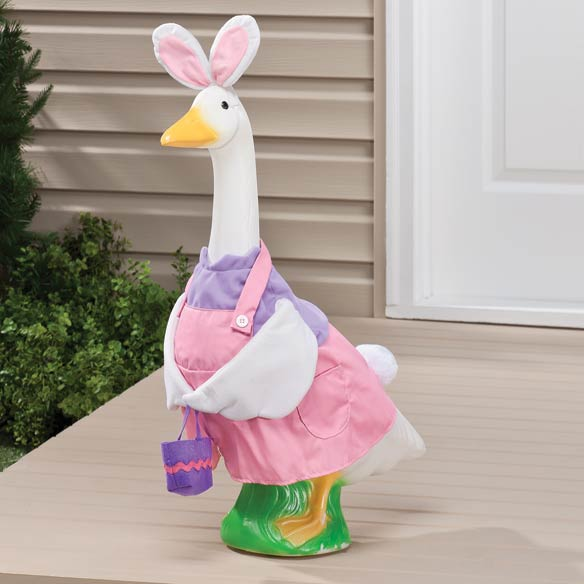 Easter Bunny Girl Goose Outfit Lawn Goose Goose