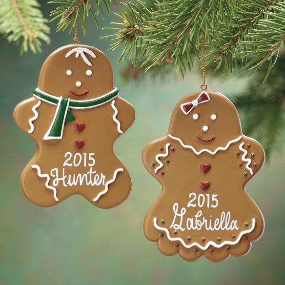 Personalized Gingerbread Ornament Christmas Miles Kimball