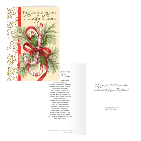 The Legend Of The Candy Cane Personalized Christmas Card