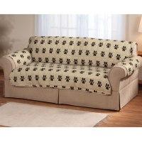 Paw Print Sofa Protector - Pet Furniture Covers - Miles ...