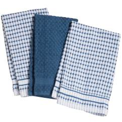 Terry Kitchen Towels Calphalon Essentials Stainless Steel Set Of 3 Cotton Miles Kimball