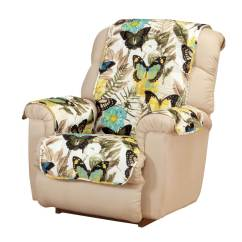 Microfiber Recliner Chair Covers High Capacity Office Butterfly Cover Miles