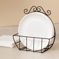 Wire Paper Plate Holder - Paper Plate Storage - Miles Kimball