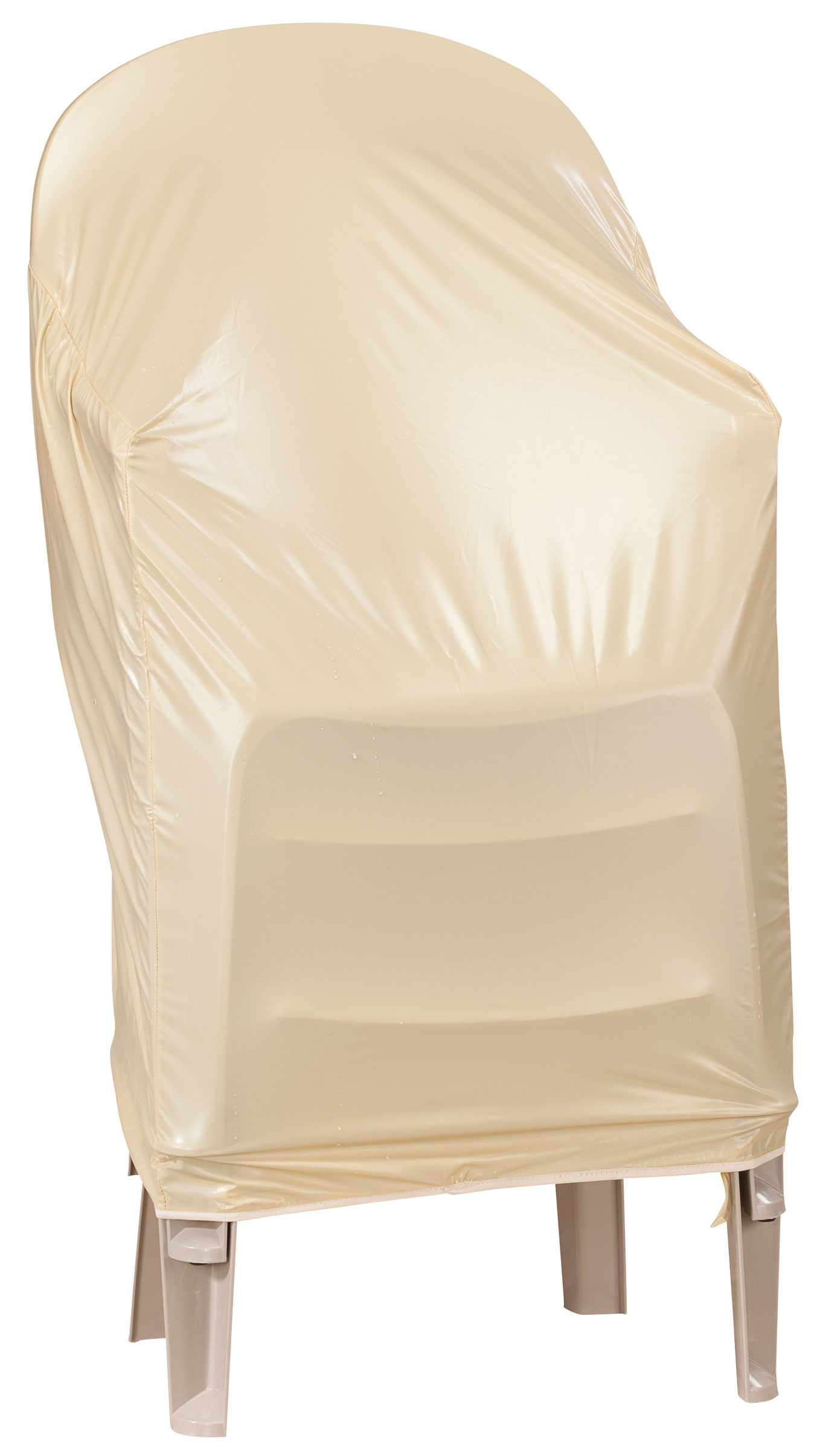 chair covers for plastic stacking chairs gliding rocker beige cover ebay