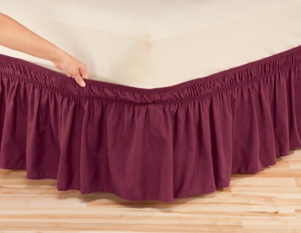 Wrap around Elastic Bed Skirts