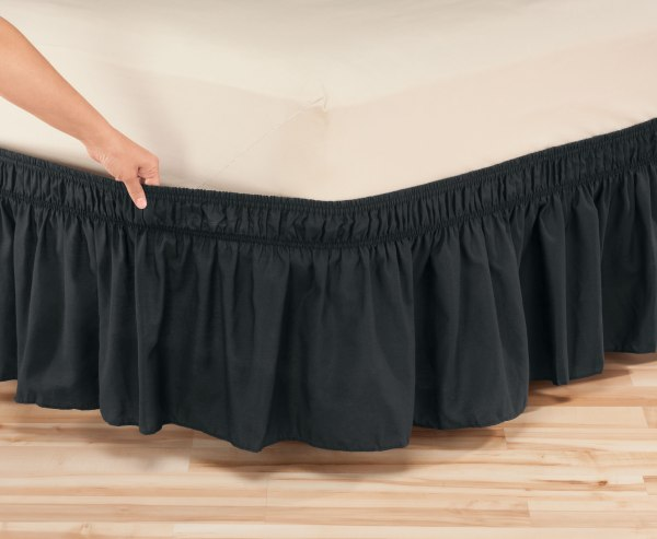 Solid Wrap Elastic Bed Skirt Oakridgetm