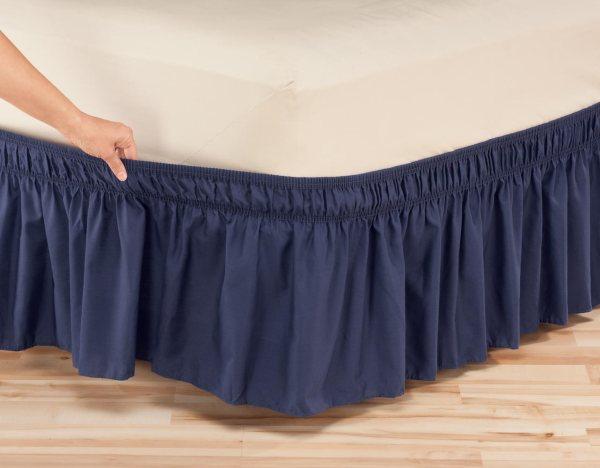 Solid Wrap Elastic Bed Skirt Oakridge Comfortstm