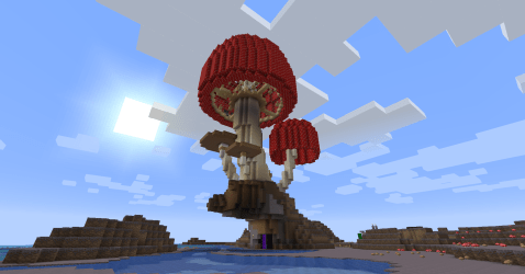 It s a giant mushroom house! Show Your Creation Minecraft Minecraft Forum Minecraft Forum