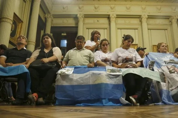 Familiares del ARA San Juan en el Senado