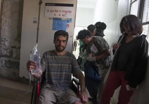 Joaquín Santos tras ser rescatado<br>