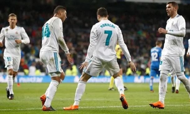 Gol de Cristiano Ronaldo para Real Madrid - Crédito: @realmadrid