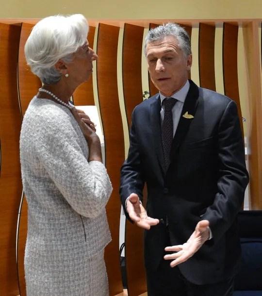 Christine Lagarde y Mauricio Macri<br>