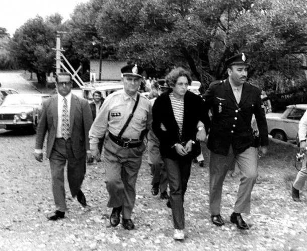 Robledo Puch en 1972, en la reconstrucción de un crimen.