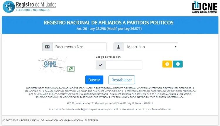 Resultado de imagen para registro nacional de afiliados a partidos politicos